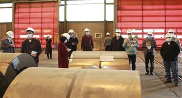 بازدید شرکتهای دانشبنیان در حوزۀ لجستیک هوشمند از فولاد مبارکه
