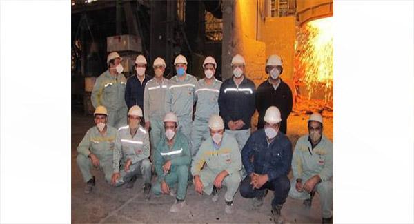 ثبت ركورد عمر نسوز پاتیل در مجتمع فولاد سبا
