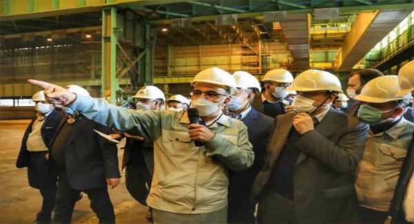 بازدید وزیر صمت از خط نورد گرم مبارکه