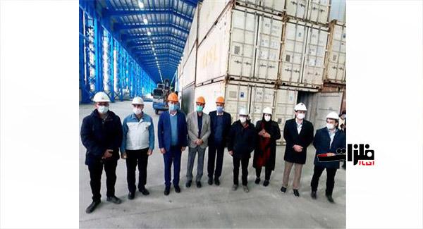 انبار اختصاصی گمرک فولاد تاراز افتتاح شد