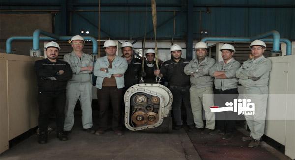 قطعات حساس و پیچیده کمپرسورهای هوای فشرده در کارخانه اکسیژن خراسان تعمیر اساسی شدند