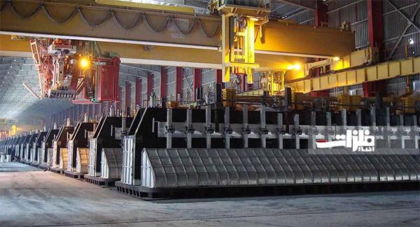 تولید ۵۲۰ آند در مجتمع صنایع آلومینیوم جنوب