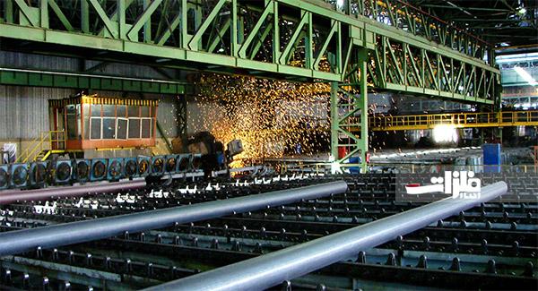 تولید ۴۰ هزار تن لوله فولادی بدون درز در لوله گستر اسفراین