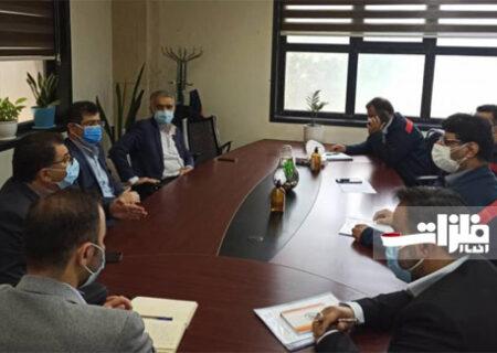 جلسه مشترک مدیران بانکهای سپه و انصار با مدیران امور مالی فولاد اکسین برگزار شد