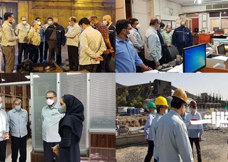 بازدید مدیرعامل فولادخوزستان از بخشهای مختلف شرکت