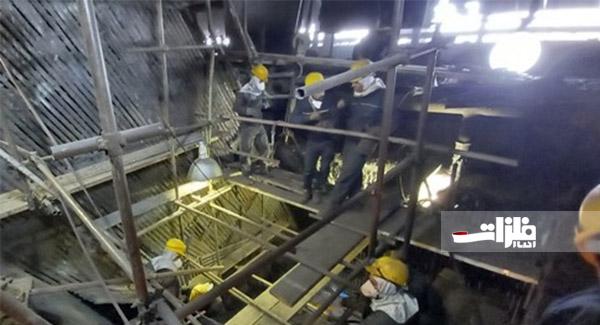 تعمیرات اساسی کنورتور شماره ۲ ذوبآهن با موفقیت به اتمام رسید