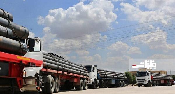 انتقال لولههای جداری میدان نفت فروزان آغاز شد