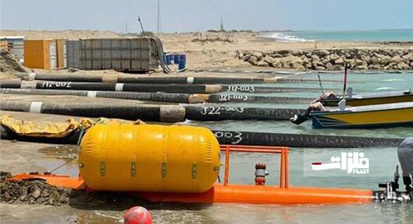 اتمام تکمیل عملیات کشش لوله از ساحل طرح پایانه نفتی جاسک