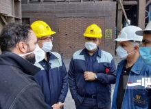 مدیرعامل ذوبآهن از روند تولید و تعمیرات کارخانه بازدید کرد