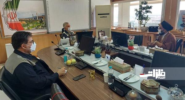 برگزاری جلسه تعاملی مدیرعامل ذوبآهن با امام جمعه چرمهین
