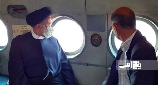 بازدید هوایی رئیس جمهور از معادن زغالسنگ طبس